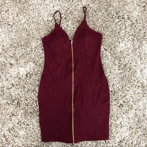 Haute Monde Dresses & Skirts - Burgundy Bodycon Dress L